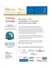 Keep California Beautiful- School Challenge 2020