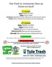 Tule Trash Co. Community Clean- up